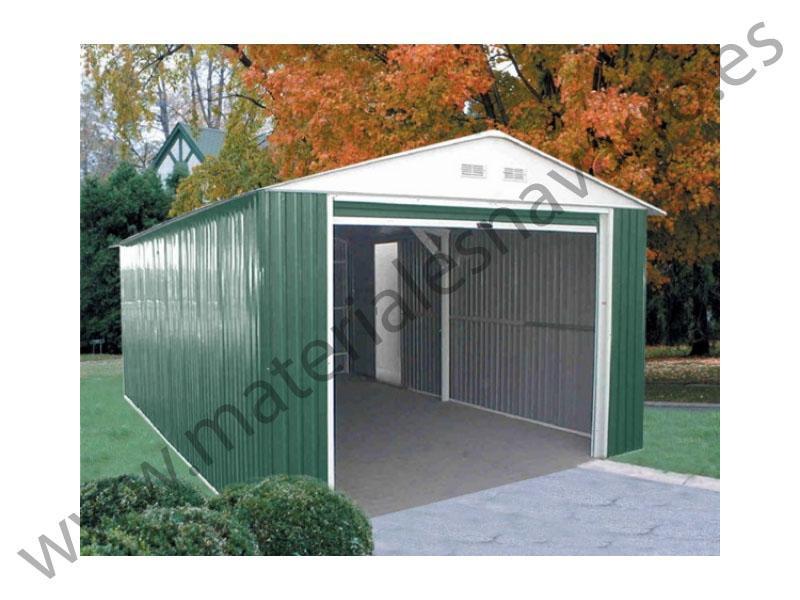 Detalle del art culo garaje chapa f 6 04 a 3 72 a 2 58 cp414 for Casetas de chapa baratas