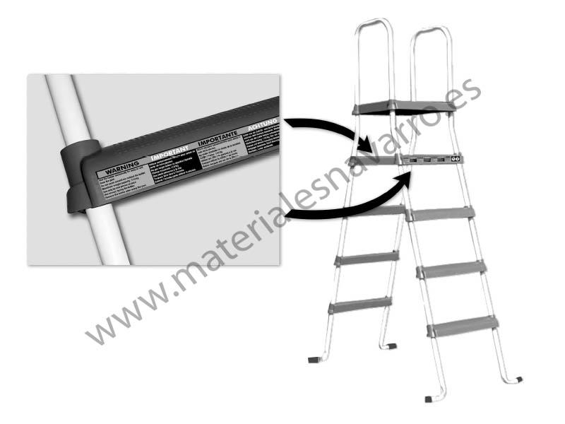 Detalle del art culo escalera piscina a tj 2x4 147cm ar 1100 for Piscina desmontable 2x4
